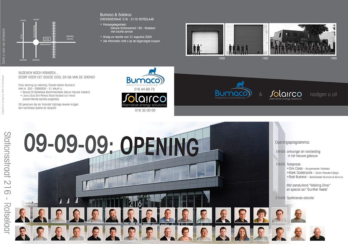 uitnodiging opening nieuw gebouw Bumaco