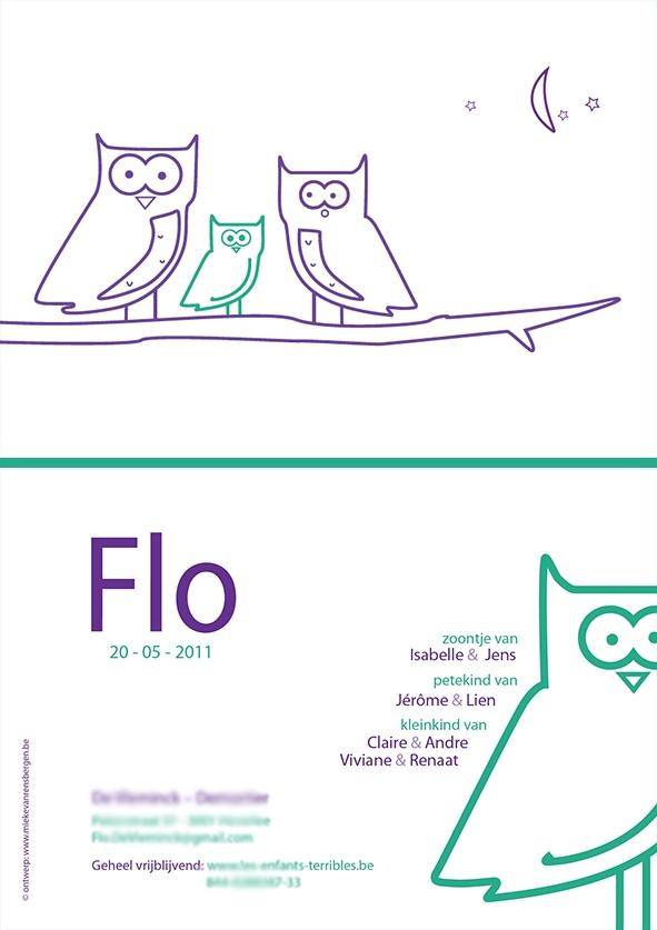 Geboortekaart Flo