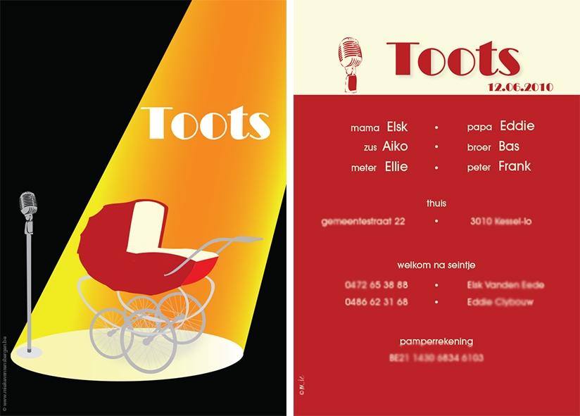 Geboortekaart Toots