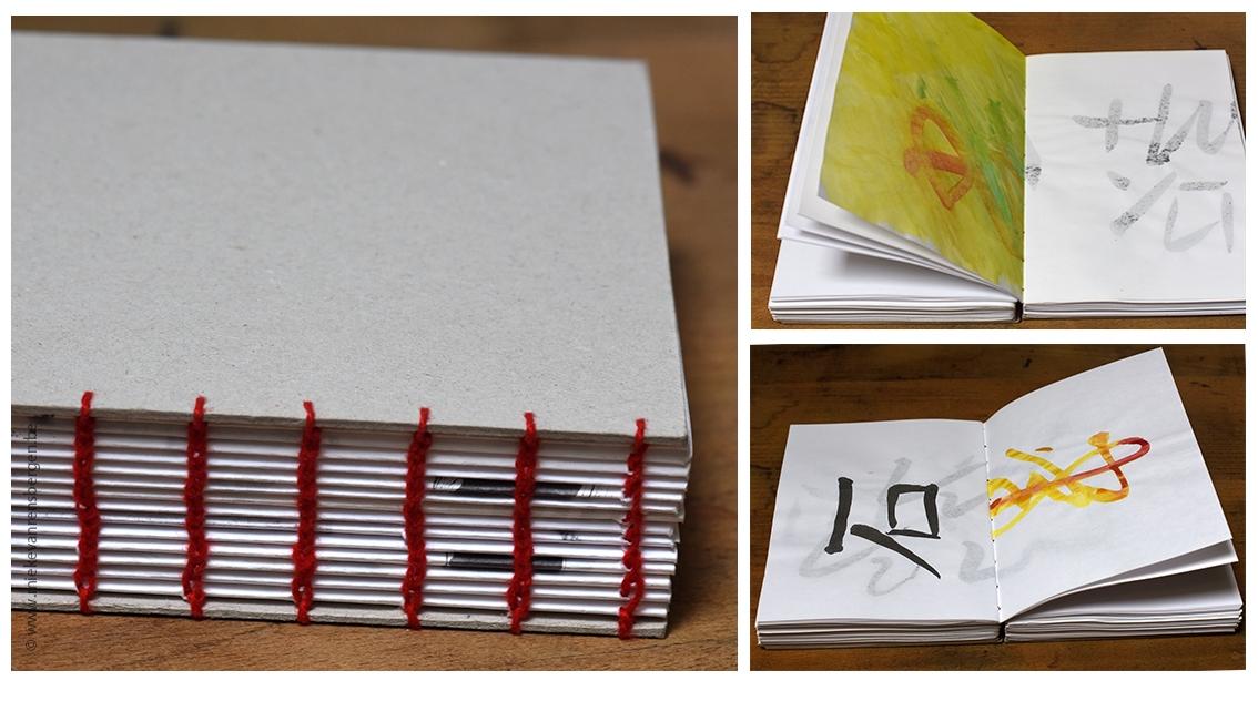 Koptische binding /penseelschrift