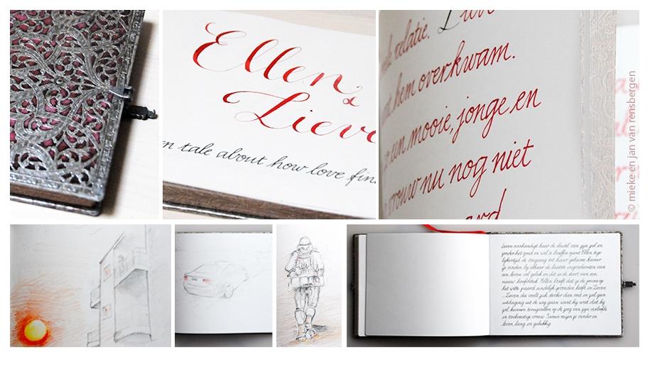 Huwelijksaanzoek-  met tekeningen van Jan Van Rensbergen